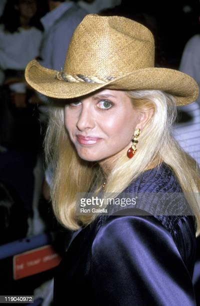 Ivana Trump during US Open September 10 1989 at Flushing Meadows Park in Queens New York United States