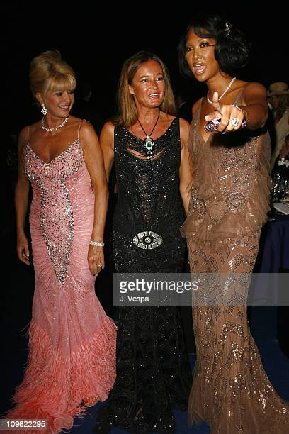 Ivana Trump Eva Cavalli and Kimora Lee Simmons during amfAR's Cinema Against AIDS Benefit in Cannes Presented by Bold Films Palisades Pictures and...
