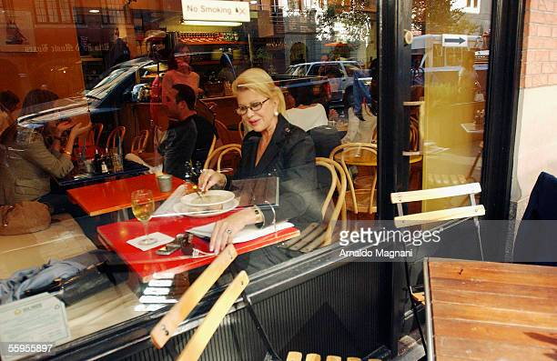 Ivana Trump is seen having the soup at Terra Mare Coffee Shop September 30 2005 in New York City According to photographer Ivana Trump left the La...