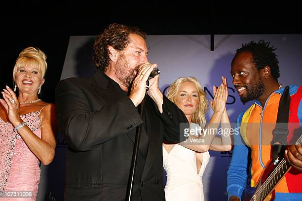 Ivana Trump Julian Schnabel Sharon Stone and Wyclef Jean
