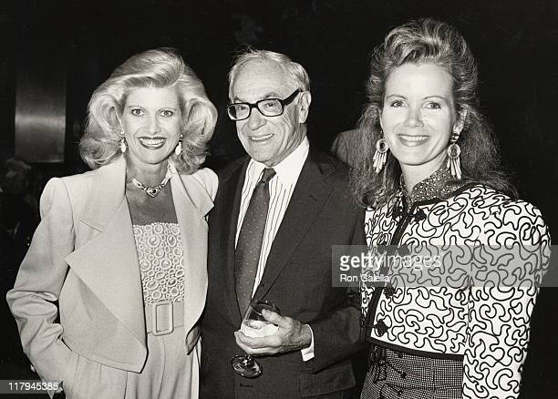 Ivana Trump Malcolm Forbes and Blaine Trump during Mike Tyson vs Michael Spinks Fight at Trump Plaza June 27 1988 at Trump Plaza in Atlantic City New...