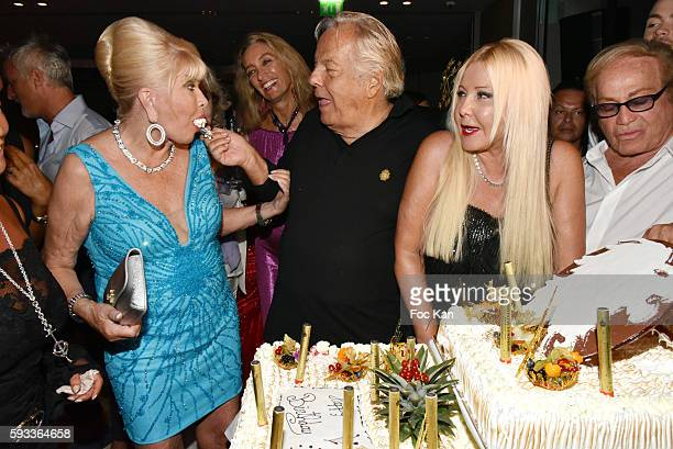 Ivana Trump Massimo Gargia Monika Bacardi and Orlando attend the Massimo Gargia Birthday Party at Hotel de Paris of Saint Tropez on August 21 2016 in...