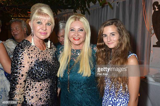 Ivana Trump Monika Bacardi and her daughter Maria Luisa Bacardi attend the Massimo Gargia Birthday Party at the VIP Room Saint Tropez on August 18...
