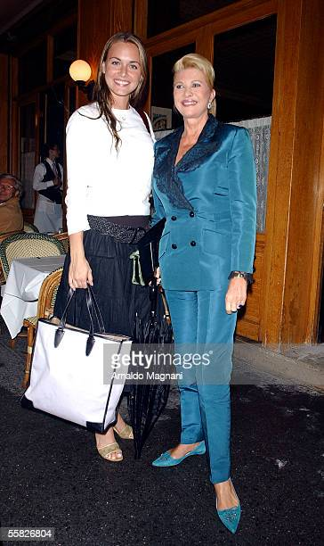 Ivana Trump poses with her future daughterinlaw Vanessa Hayden outside La Goulue Restaurant after having lunch September 29 2005 in New York City