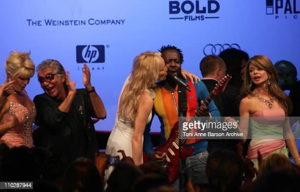 Ivana Trump, Roberto Cavalli, Sharon Stone and Wyclef Jean