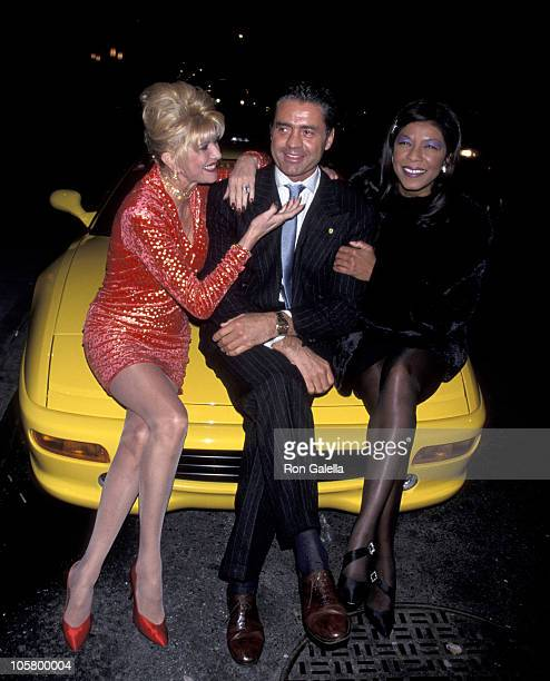 Ivana Trump Roffredo Gaetani and Natalie Cole during Birthday Party for Ivana Trump at The Lava Lounge in New York City New York United States