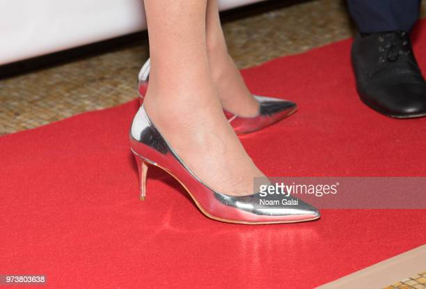 Ivana Trump shoe detail attends a press conference announcing her new campaign to fight obesity at The Plaza Hotel on June 13 2018 in New York City