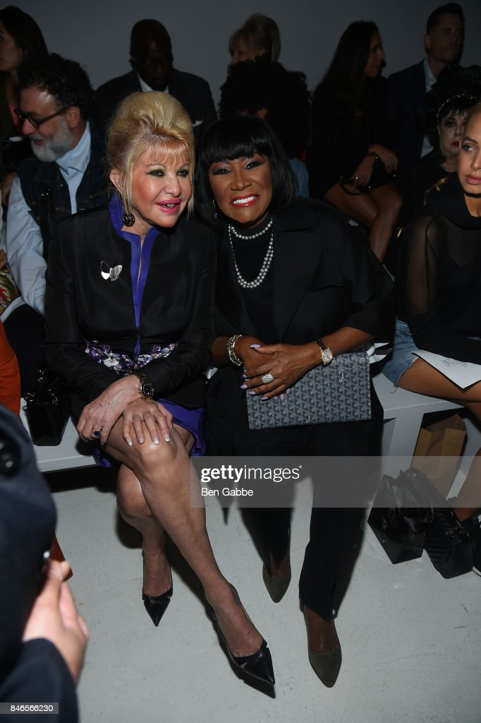 Ivana Trump (L) singer Patti LaBelle attends the Zang Toi fashion show during New York Fashion Week: The Shows at Gallery 3, Skylight Clarkson Sq on September 13, 2017 in New York City.