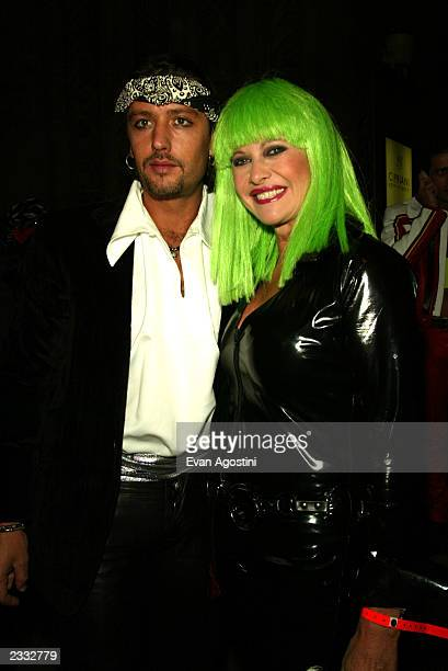 Ivana Trump with boyfriend Rossano Rubicondi at Dolce Gabbana's Halloween Party at Cipriani 42nd Street in New York City October 31 2002 Photo by...
