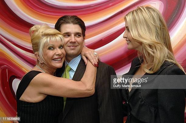 Ivana Trump with Donald Trump Jr and Ivanka Trump celebrates her engagement to Rossano Rubicondi at Italian singer Nicola Congiu's private...
