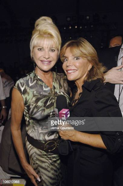 Ivana Trump with Judy Licht of Full Frontal Fashion