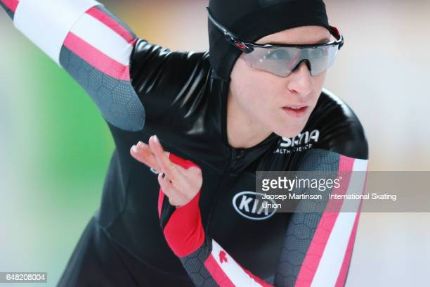 Ivanie Blondin of Canada competes in the Ladies 1500m during day two of the World Allround Speed Skating Championships at Hamar Olympic Hall on March...