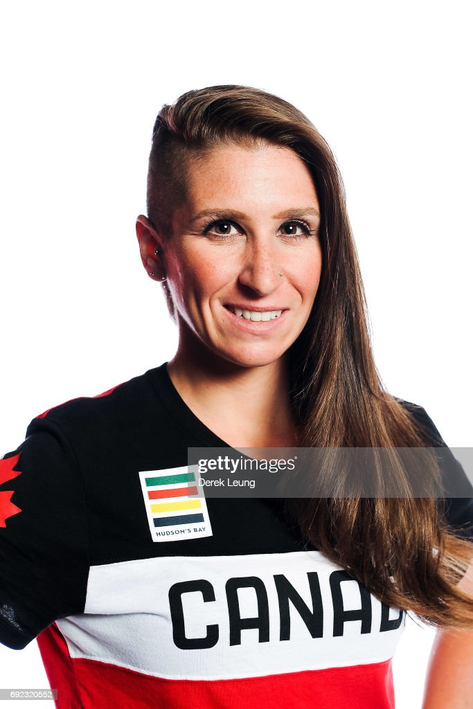 Ivanie Blondin poses for a portrait during the Canadian Olympic Committee Portrait Shoot on June 4, 2017 in Calgary, Alberta, Canada.