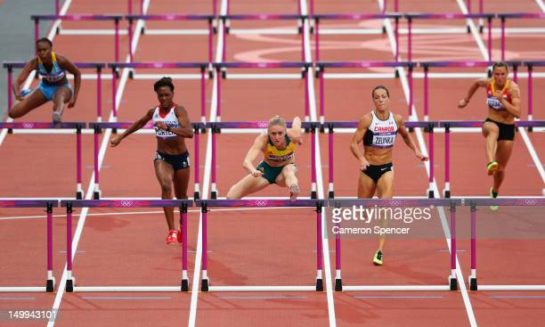 Ivanique Kemp of the Bahamas, Tiffany Porter of Great Britain, Sally Pearson of Australia, Jessica Zelinka of Canada, Eline Berings of Belgium...