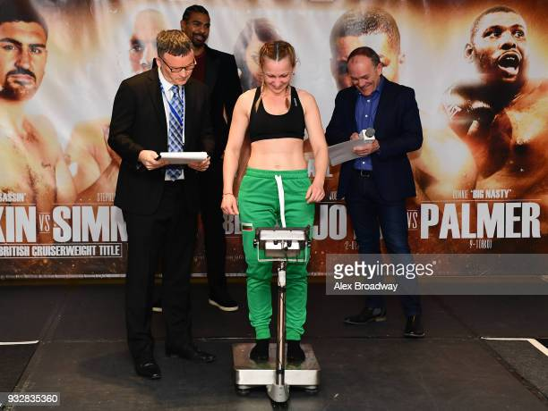 Ivanka Ivanova attends the Hayemaker Ringstar Weigh In at The Park Plaza Victoria on March 16 2018 in London England The Double Header Fight Night...