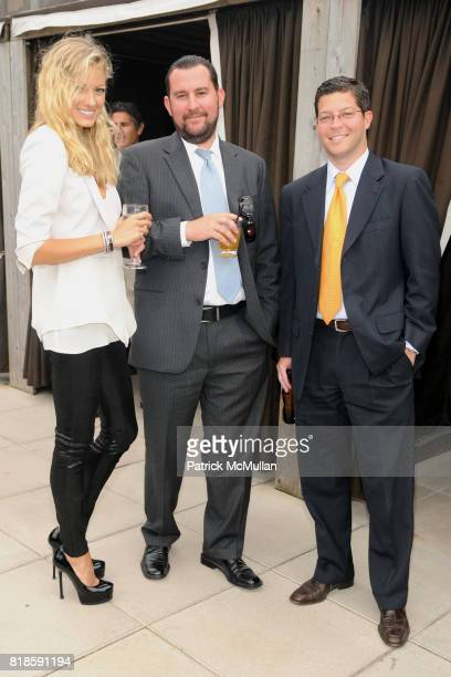 Ivanka Naydenova Steven Schonfeld and Hal Stein attend BILL PALEY Relaunches LA PALINA CIGARS at Empire Hotel on June 17 2010 in New York City