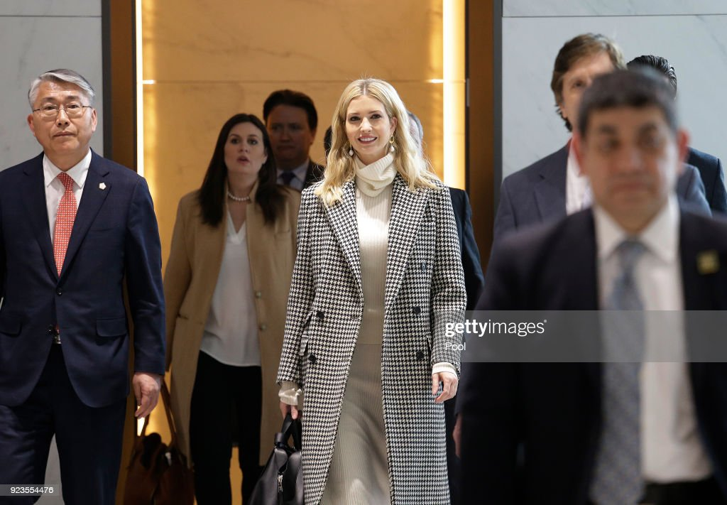 Ivanka Trump, advisor to and daughter of U.S. President Donald Trump, arrives at Incheon International Airport on February 23, 2018 in Seoul, South Korea. Ivanka will lead her country's delegation to the closing ceremony of the Pyeongchang Winter Olympics Sunday.