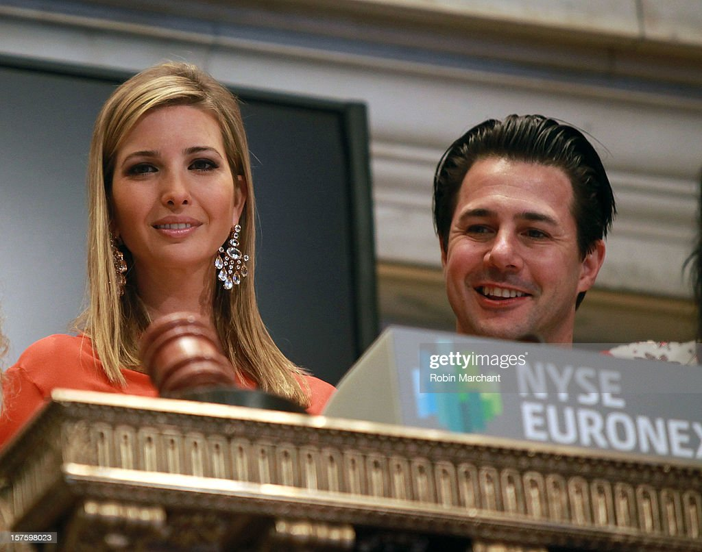 Ivanka Trump (L) and Chef Johnny Iuzzini attend NYSE Euronext 89th Annual NYSE Christmas Tree Lighting Celebration at New York Stock Exchange on December 4, 2012 in New York City.