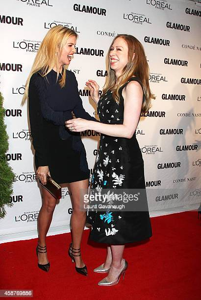 Ivanka Trump and Chelsea Clinton attend the 2014 Glamour Women Of The Year Awards at Carnegie Hall on November 10 2014 in New York City