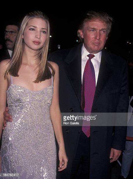 Ivanka Trump and Donald Trump attend the Sony Music Party for 40th Annual Grammy Awards on February 26 1998 at the Manhattan Center in New York City