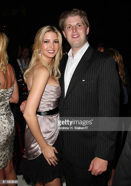 Ivanka Trump and Eric Trump attend the Drinks Dinner and Disco Party the night before the wedding of Ivana Trump and Rossano Rubicondi at the...