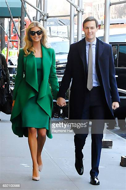 Ivanka Trump and her husband Jared Kushner are seen walking in Midtown on January 19 2017 in New York City