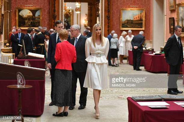 Ivanka Trump and her husband Senior Advisor to the President of the United States Jared Kushner view displays of US items of the Royal Collection...