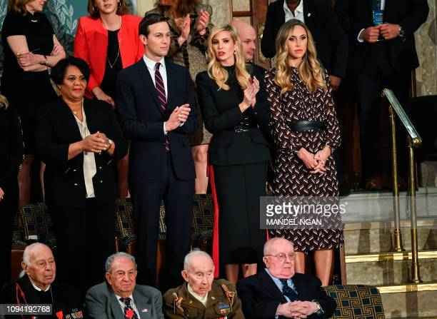 Ivanka Trump and husband Jared Kushner along with special guests of the President are seen ahead of US President Donald Trump's State of the Union...