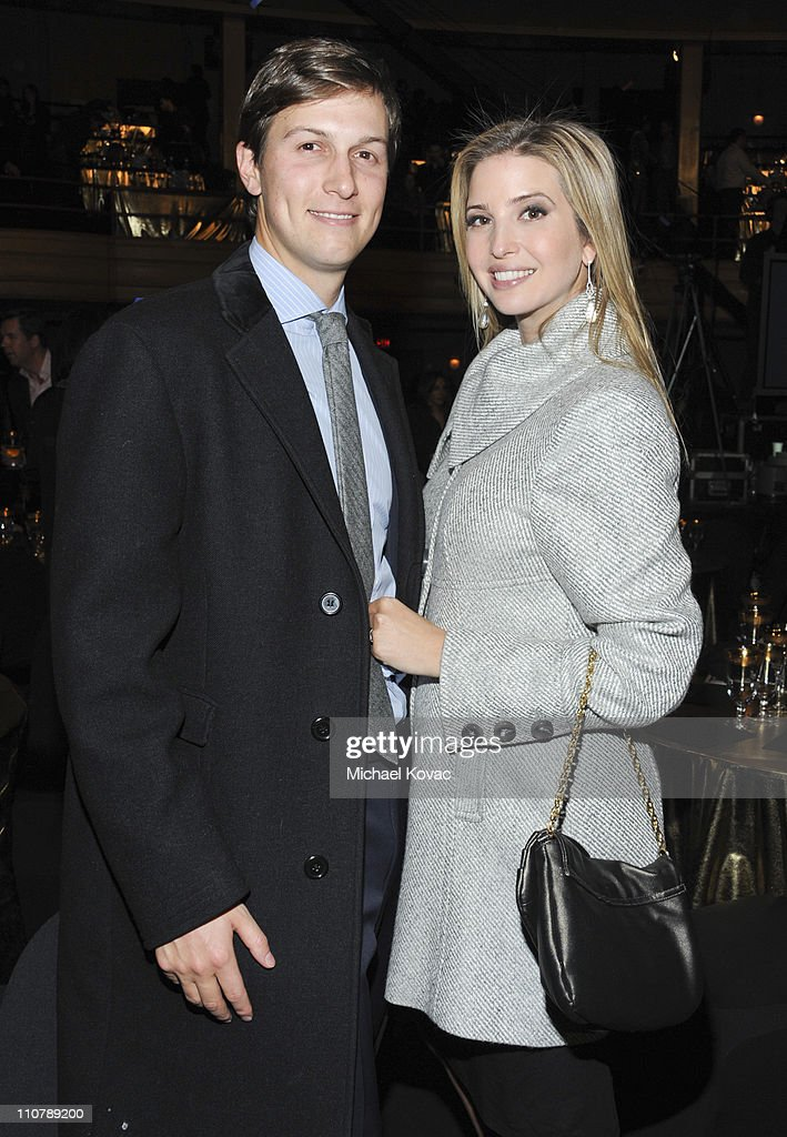 Ivanka Trump (R) and husband Jared Kushner attend the Comedy Central Roast of Donald Trump at the Hammerstein Ballroom on March 9, 2011 in New York City.