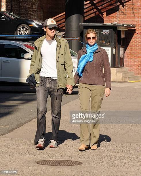 Ivanka Trump and husband Jared Kushner walk along Broadway in SoHo on November 8 2009 in New York City