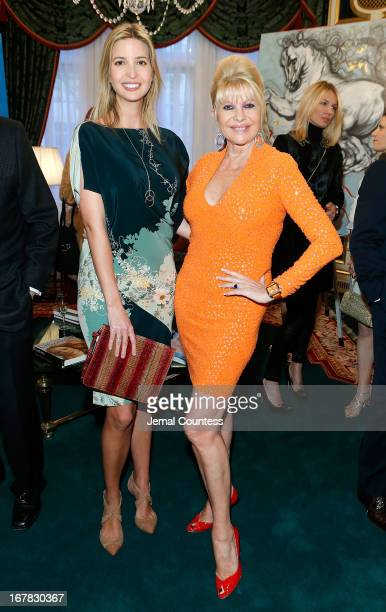 Ivanka Trump and Ivana Trump attend the exhibition of artwork featuring Giovanni Perrone and hosted by Ivana Trump and Mark Antonio Rota on April 30...
