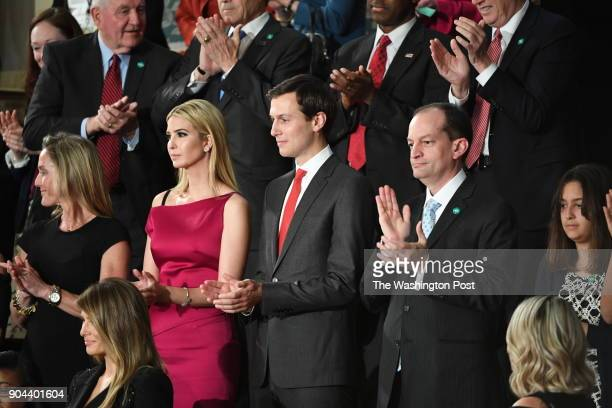 Ivanka Trump and Jared Kushner ahead of President Trump's first address before a joint session of Congress on Tuesday Feb 28 at the US Capitol in...
