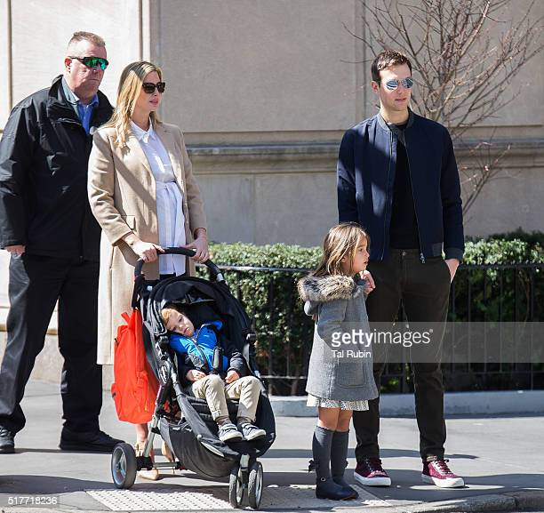 Ivanka Trump and Jared Kushner are seen on March 26 2016 in New York City