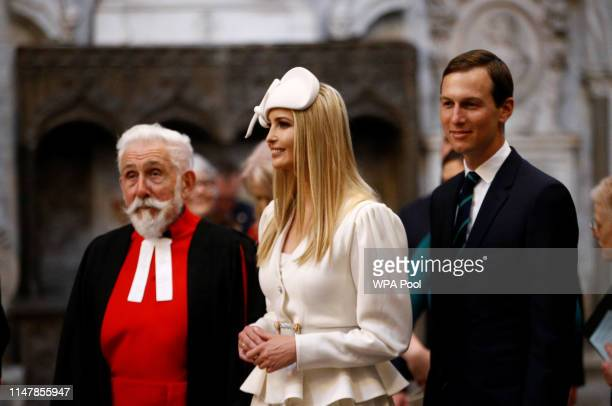 Ivanka Trump and Jared Kushner are shown around Westminster Abbey during the visit by US President Donald Trump and First Lady Melania Trump on June...