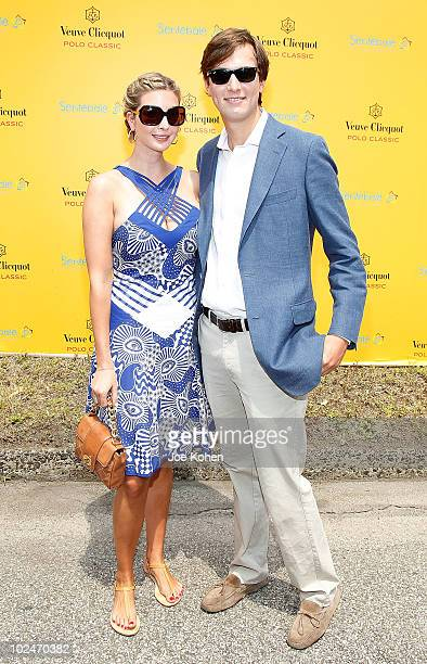 Ivanka Trump and Jared Kushner attend the 3rd annual Veuve Clicquot Polo Classic on Governors Island on June 27 2010 in New York City