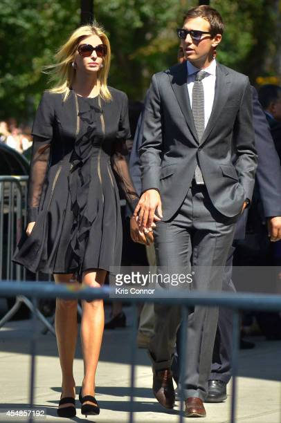 Ivanka Trump and Jared Kushner attend the Joan Rivers memorial service at Temple EmanuEl on September 7 2014 in New York City