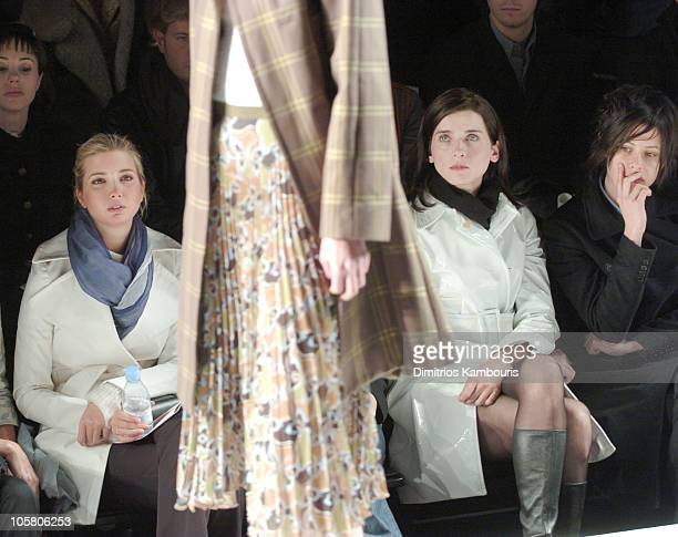 Ivanka Trump and Michele Hicks during Olympus Fashion Week Fall 2004 Behnaz Sarafpour Front Row at Studio Noir at Bryant Park in New York City New...