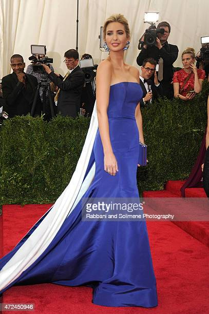 Ivanka Trump arrives at China Through The Looking Glass Costume Institute Benefit Gala at the Metropolitan Museum of Art on May 4 2015 in New York...