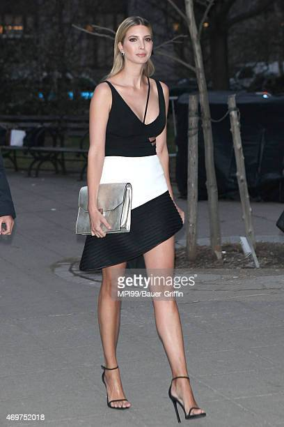 Ivanka Trump arrives at the 2015 Tribeca Film Festival Vanity Fair Party at the State Supreme Courthouse on April 14 2015 in New York City