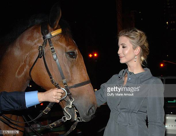 Ivanka Trump arrives at the Kickoff Reception for the 2007 Breeders' Cup World Championships led by Ivanka Trump and the leading jockeys at AZZA on...