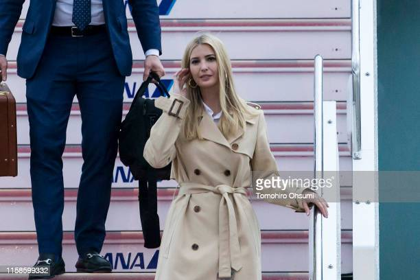 Ivanka Trump arrives at the Osaka International Airport for the G-20 Summit on June 27, 2019 in Osaka, Japan. Trump arrived in Osaka on Thursday for...
