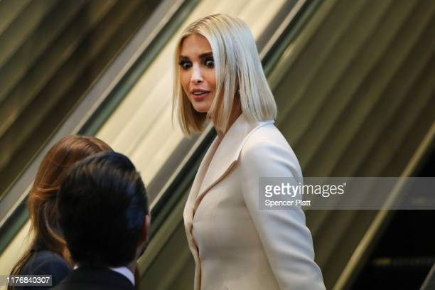 Ivanka Trump arrives at the United Nations General Assembly on September 24, 2019 in New York City. World leaders are gathered for the 74th session...