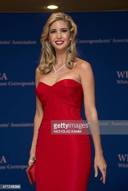 Ivanka Trump arrives at the White House Correspondents' Association annual dinner in Washington DC on April 25 2015 AFP PHOTO/NICHOLAS KAMM