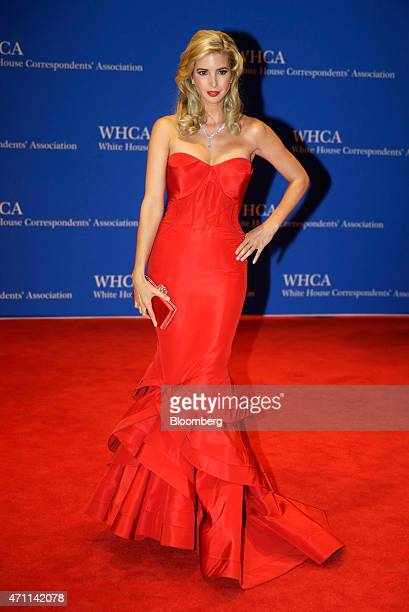 Ivanka Trump arrives for the White House Correspondents' Association dinner in Washington DC US on Saturday April 25 2015 The 101st WHCA raises money...
