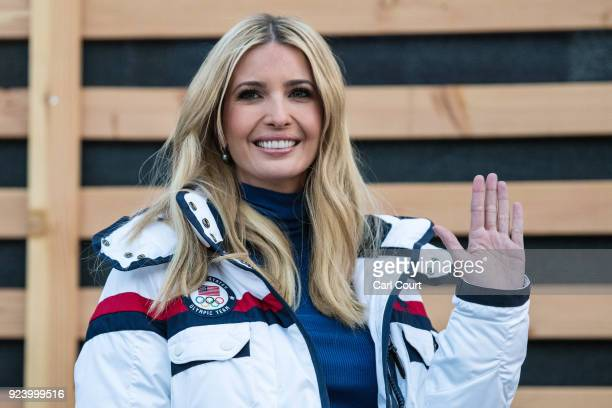 Ivanka Trump arrives to visit U.S.A House on day sixteen of the PyeongChang 2018 Winter Olympic Games on February 25, 2018 in Pyeongchang-gun, South...