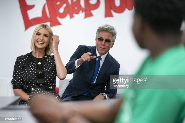 Ivanka Trump, assistant to U.S. President Donald Trump, and Bill McDermott, chief executive officer of SAP AG, attend a school tour prior to an an...