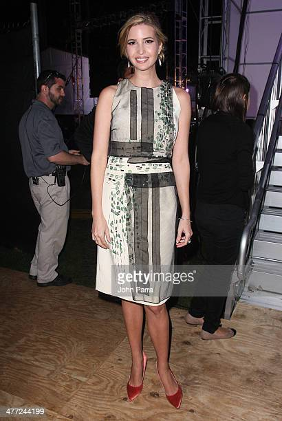 Ivanka Trump attend the Carolina Herrera Fashion Show with GREY GOOSE Vodka at the Cadillac Championship at Trump National Doral on March 7 2014 in...