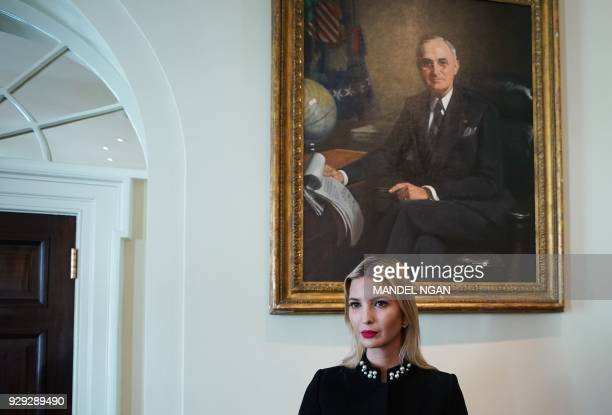 Ivanka Trump attends a Cabinet meeting in the Cabinet Room of the White House on March 8 2018 in Washington DC / AFP PHOTO / MANDEL NGAN