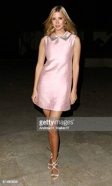 Ivanka Trump attends a party for the wedding of Ivana Trump and Rossano Rubicondi at a private residence on April 10 2008 in Delray Florida