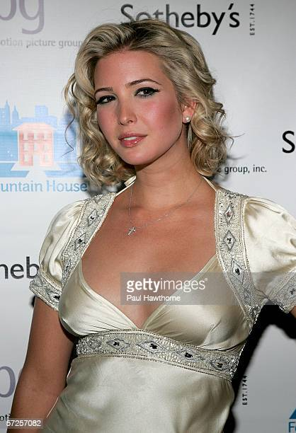 Ivanka Trump attends an auction of photographer Francesco Scavullo's work benefiting Fountain House at Sotheby's April 4 2006 in New York City